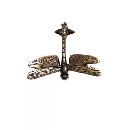 Antique Brass Finish Door Knocker (Antique Door Knocker Brass Antique Door Hardware Dragonfly Door Knocker 4 7/8)