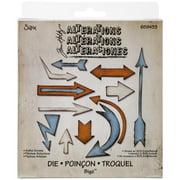 """Sizzix Bigz Die By Tim Holtz 5.5""""x6""""-artful Arrows"""