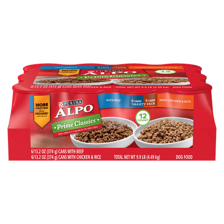 Purina ALPO Wet Dog Food Variety Pack, Prime Classics - (12) 13.2 oz. Cans
