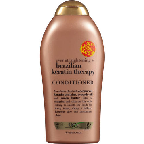 Organix Ever Straight Brazilian Keratin Therapy Conditioner 50% Free. 19.5 fl oz