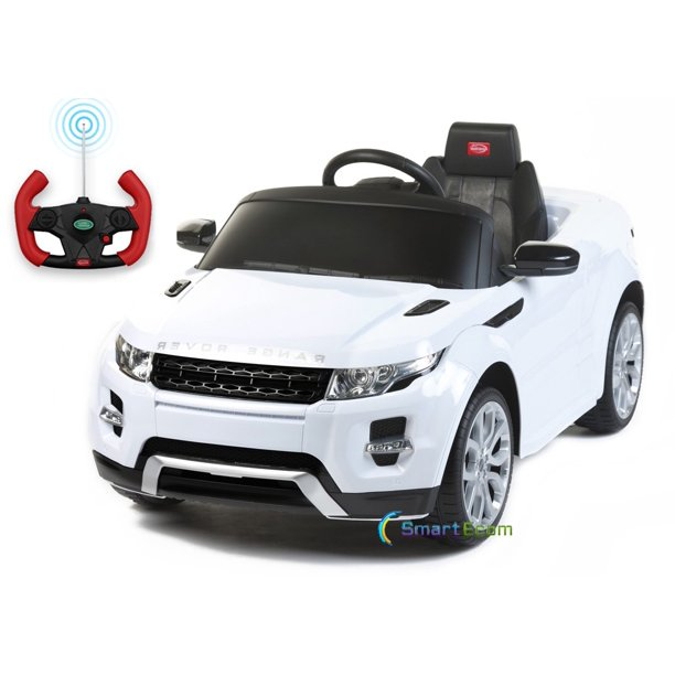 12v Electric Power Car Range Rover Evoque Ride On Toy For Kids With Remote Control Led Lights Mp3 Music And Horn White Walmart Com Walmart Com