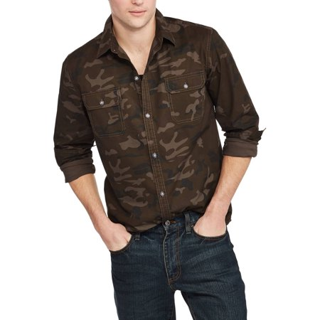 Mens Long Sleeve Stretch Poplin Shirt