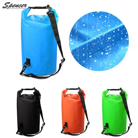 8eb708278623 Spencer 10L Floating Waterproof Dry Bag Roll Top Dry Single Strap  Compression Sack for Kayaking