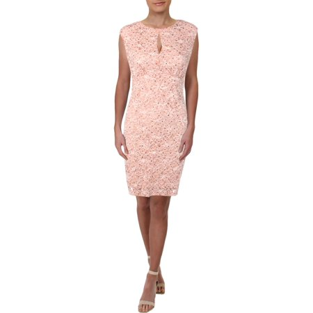Connected Apparel Womens Lace Sleeveless Cocktail