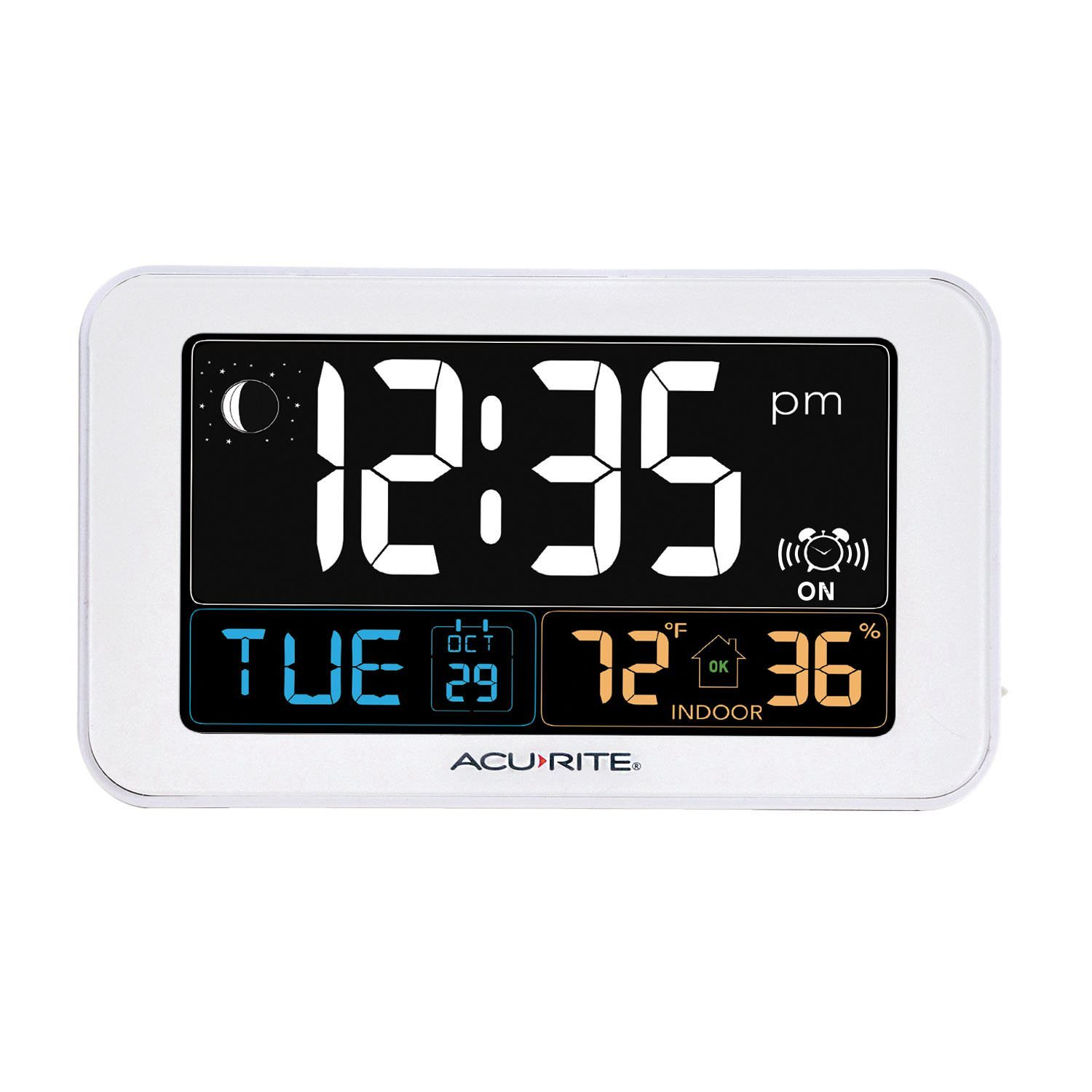 Intelli-Time Clock with Indoor Temperature and USB Charger