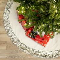 """Belham Living Sequin Velvet Christmas Tree Skirt, 48"""" diameter"""
