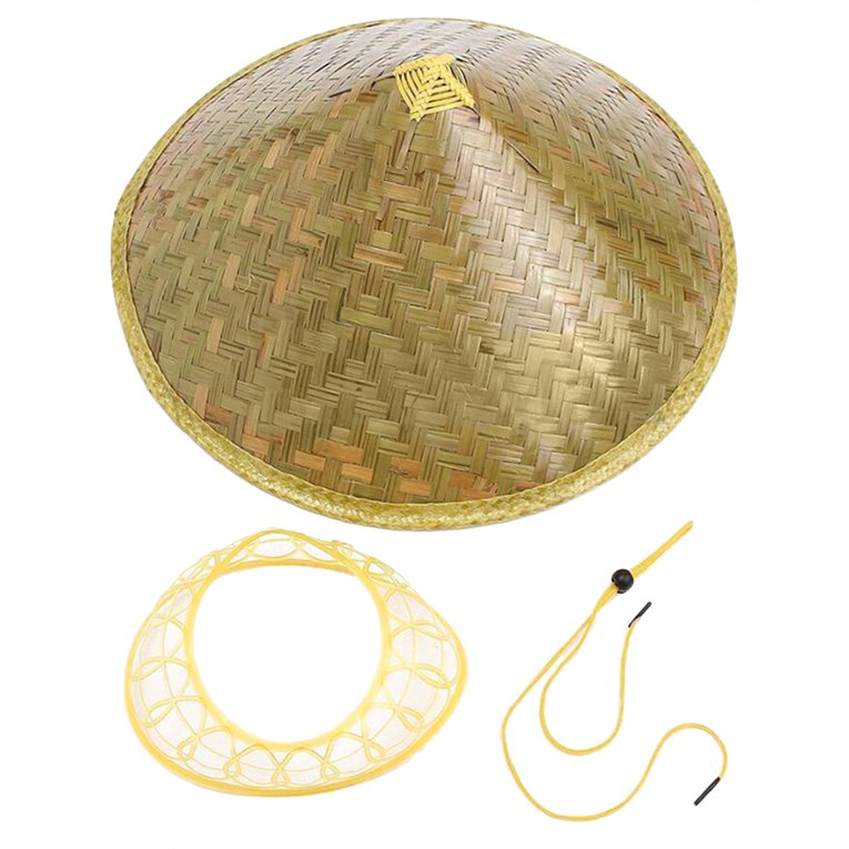 Chinese Sun Hat Brimmed Bamboo Straw Hat Tourism Farmer Unisex Fishing Hat