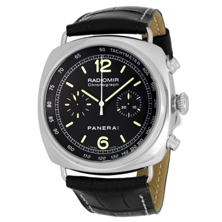 Pre-owned Panerai Radiomir Chronograph Automatic Chronometer Black Dial Men's Watch Pre owned