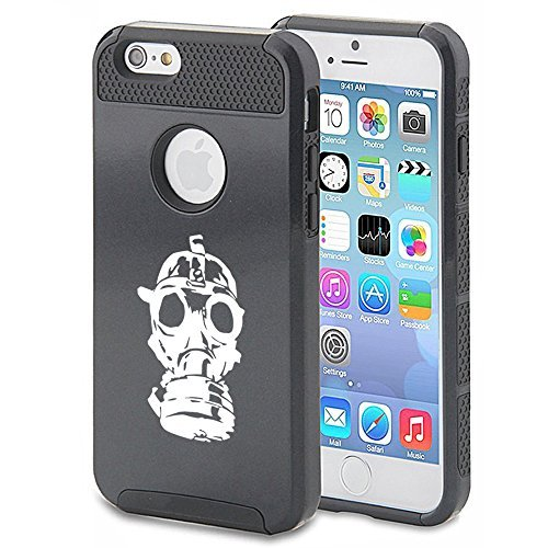 Apple iPhone (6 Plus   6s Plus) Shockproof Impact Hard Case Cover Gas Mask Zombie (Black ) by