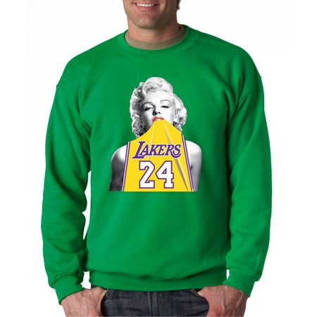 78f43ad8b0bb New Way - 412 - Crewneck Marilyn Monroe Lakers 24 Kobe Bryant Jersey  Sweatshirt - Walmart.com