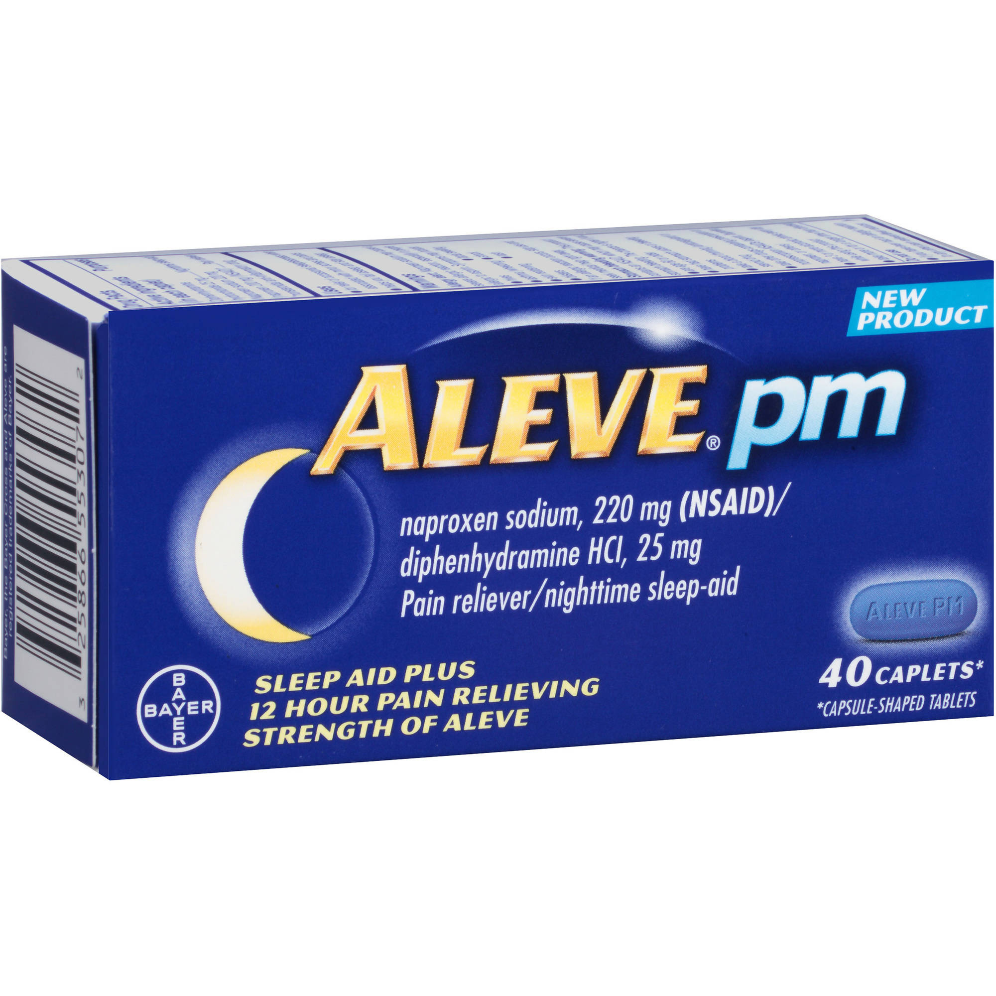 Aleve PM PM Pain Relief Caps, 40 CT (Pack of 3)