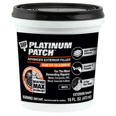 DAP Platinum Patch Advanced Exterior Filler, 16 (Dap 18354 Seal N Peel Removable Weatherstrip Caulk)