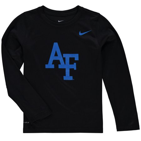 Air Force Falcons Nike Youth Legend Logo Long Sleeve Performance T-Shirt - Heathered (Nike Air Force 1 Black History Month)
