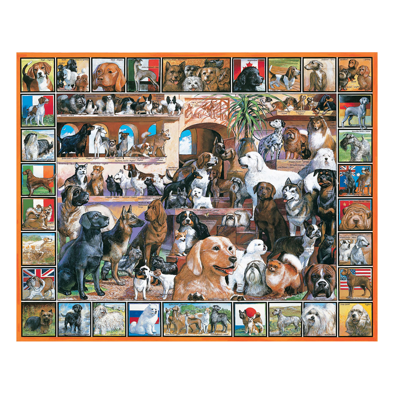 White Mountain Puzzles World of Dogs 1000 Piece Jigsaw Puzzle by White Mountain Puzzles