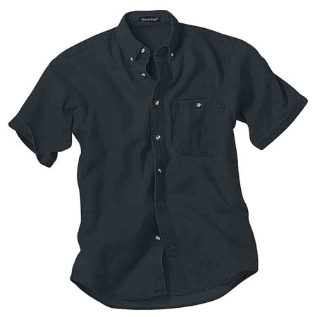- River's End Mens Short Sleeve Denim and Twill Shirt Casual Tops