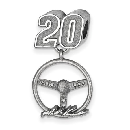 Matt Kenseth  20 Car Number Bead   Signed Sterling Silver Steering Wheel Charm