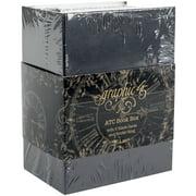 "Graphic 45 Staples ATC Cards Book Box  -Black 4.75""X3.5""X2.5"""