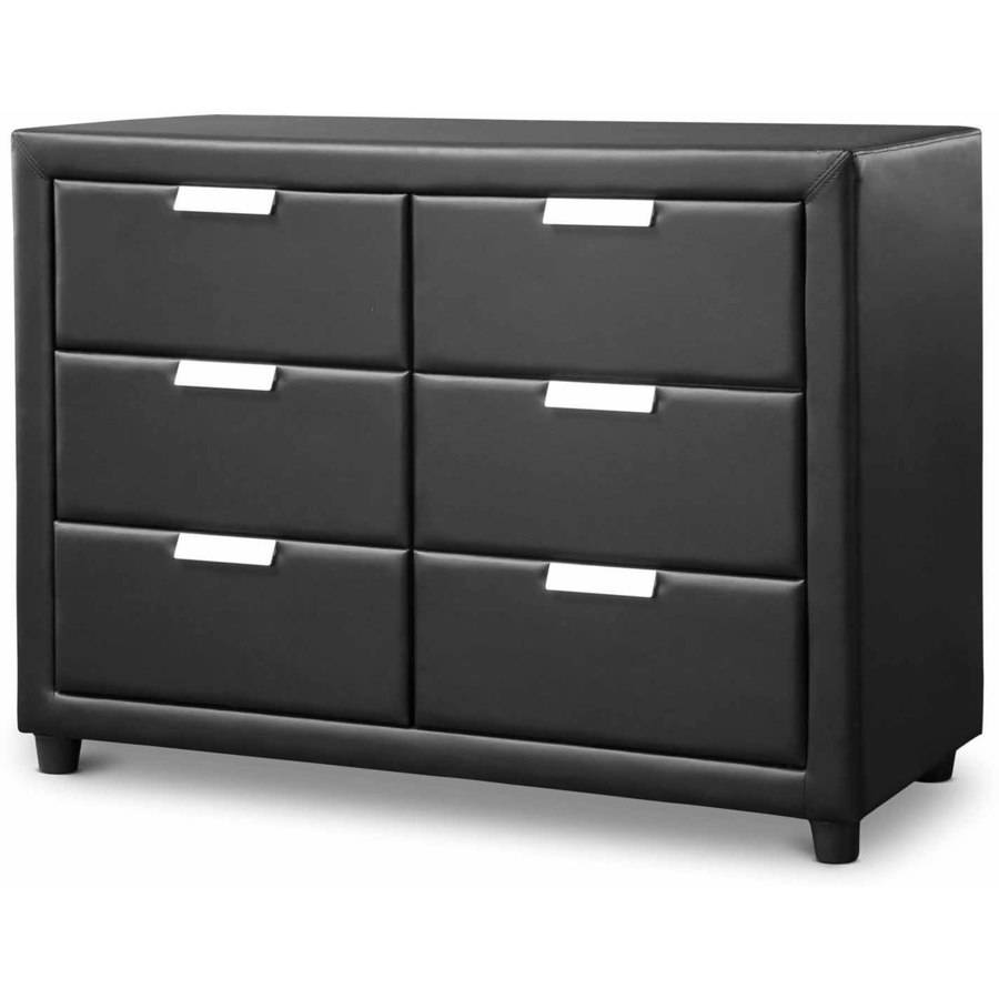 pageant wood contemporary black upholstered dresser  walmartcom -