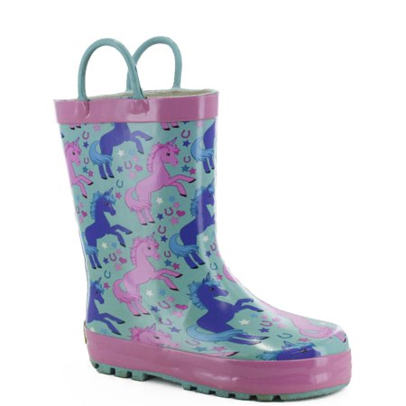 Western Chief Girls' Lucky Unicorn Rain Boot
