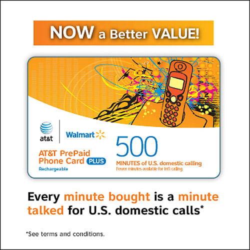 att prepaid 500 min walmartcom - Prepaid International Calling Cards