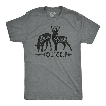 Mens Doe Buck Yourself Tshirt Funny Deer Hunting Tee About Hunting T-shirt