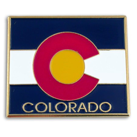 PinMart's State Shape of Colorado  and Colorado Flag Lapel Pin 1-1/8