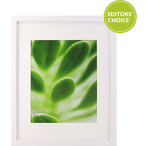 "Better Homes & Gardens White Picture Frame, 11x14"" matted to 8x10"""