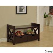 Altra Furniture Wildwood Wood Veneer Entryway Bench In