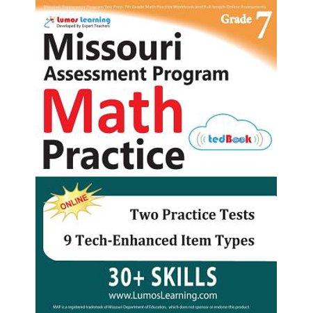 Missouri Assessment Program Test Prep 7th Grade Math Practice Workbook And Full Length Online Assessments Map Study Guide