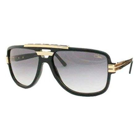 Cazal 8037 Sunglasses 001 Black Gold/Grey Gradient Lens 61MM