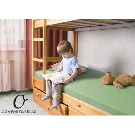 Collection Mattress Trundle (Cr Sleep 5 Inch Memory Foam Full Mattress for Bunk Bed, Trundle Bed, Day Bed, Light Green )