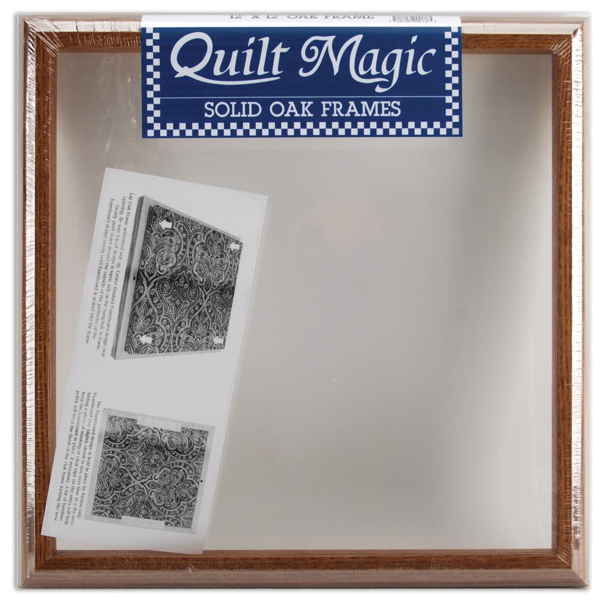 "Quilt Magic Frame 12""X12""-Oak"
