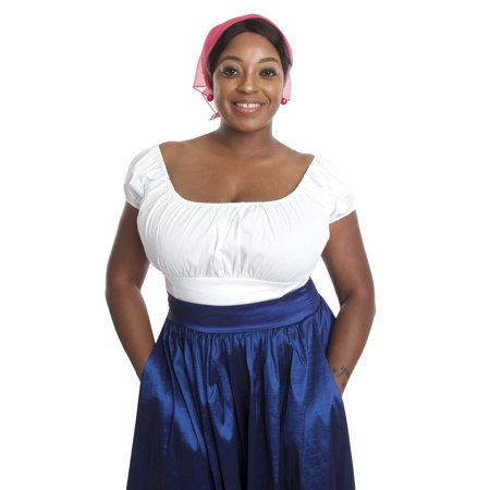 Off The Shoulder Peasant Blouse - Small to Large - White