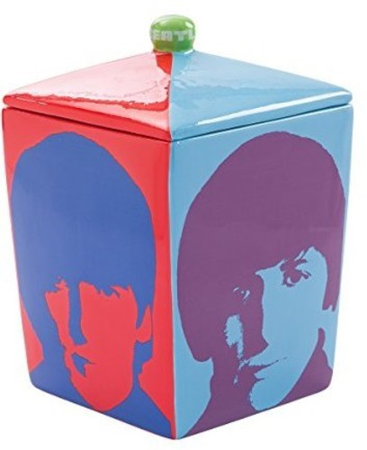 Beatles Color Bar Ceramic Cookie Jar by Vandor