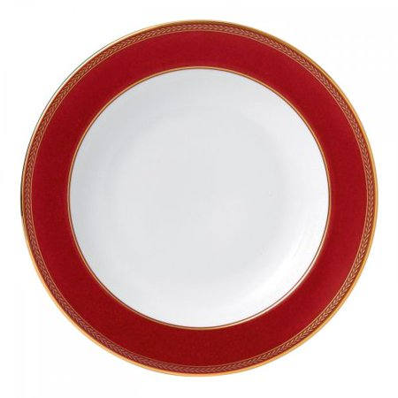 """Waterford Renaissance Red Rim Soup Plate 9"""""""