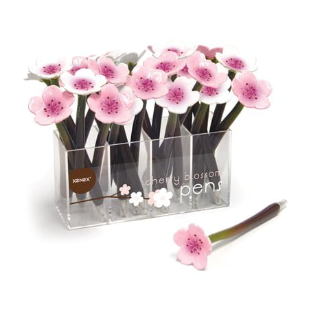 Pale Blossom Apparel - Xonex Cherry Blossom Flower Single Ballpoint Pen (10705) in Our Choice of Pale Pink or White