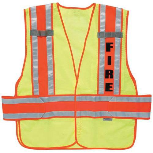 ERGODYNE 21394-FR Safety Vest, M/L, Lime, Polyester
