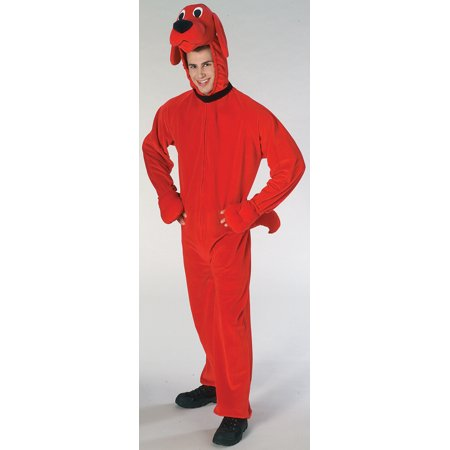 Clifford Big Red Dog Adult Halloween Costume, Size: Men's - One Size