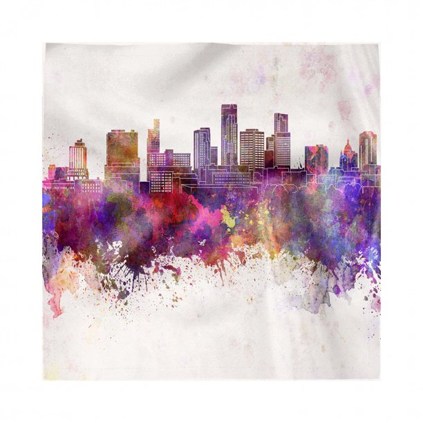 Minnesota Napkins Set Of 4, Panoramic View St Paul City