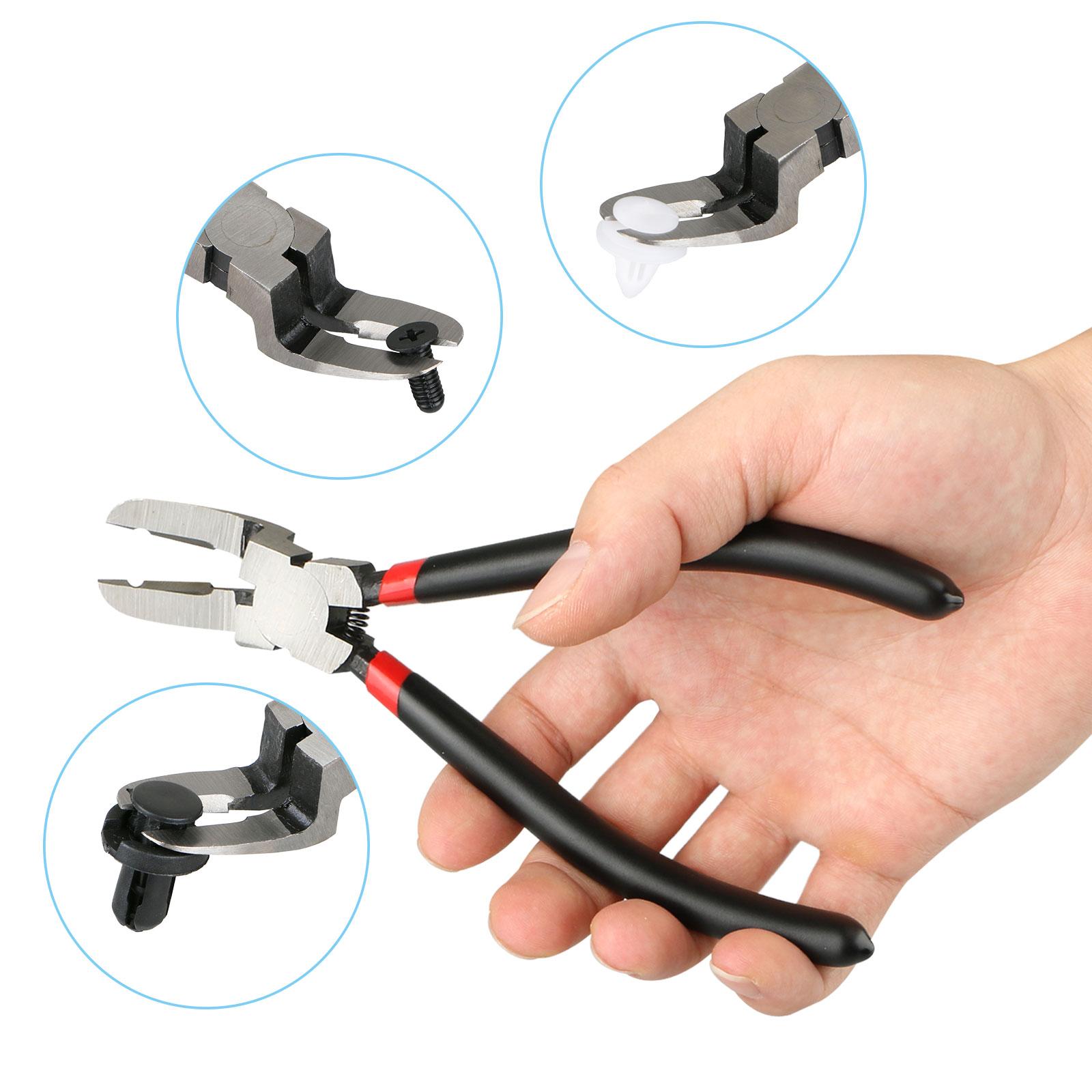 TSV Car Push Retainer Rivet Trim Clip Fastener Clips Panel Assortments Puller Tool