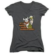 Hagar The Horrible Happy Hour Juniors V-Neck Shirt