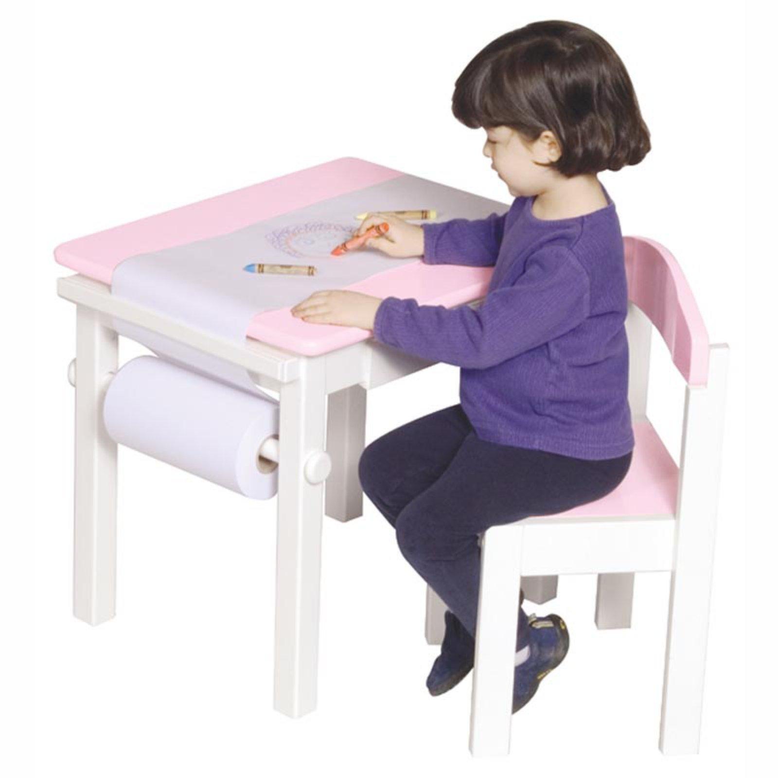 Guidecraft Art Table & Chair Set - Pink - Walmart.com