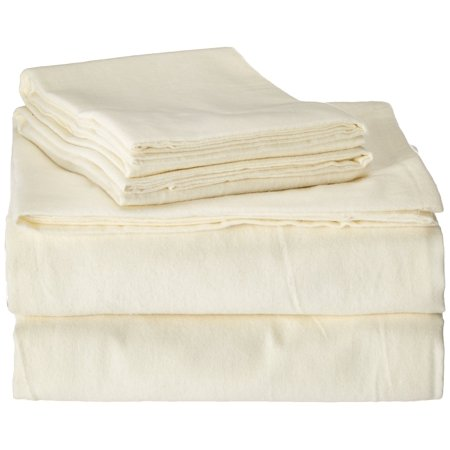 Image of Brielle Flannel 100% Cotton Cal-King Sheet Set (Set of 4), All Natural