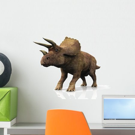 Le Triceratops Wall Decal by Wallmonkeys Peel and Stick Graphic (18 in W x 15 in H) WM327925