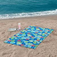 "Mainstays Sea Shells Oversized Printed Beach Towel - 34"" x 64"" - 1 Pack"