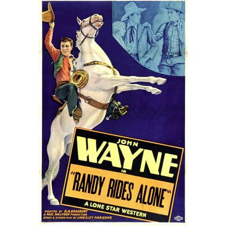 Randy Rides Alone Left John Wayne 1934 Movie Poster Masterprint](Home Alone Poster)