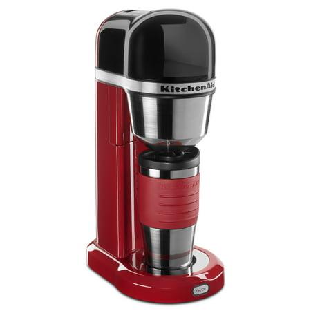 KitchenAid ® Personal Coffee Maker with 18 oz Thermal Mug Empire Red (KCM0402ER)