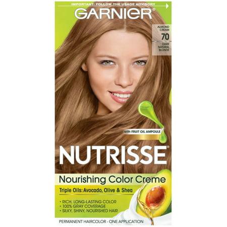 Garnier Nutrisse Nourishing Hair Color Creme, 70 Dark Natural Blonde 1 (Blonde On Top And Dark Underneath Hairstyles)
