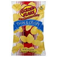 Golden Flake Thin & Crispy Original Potato Chips, 5 Oz.