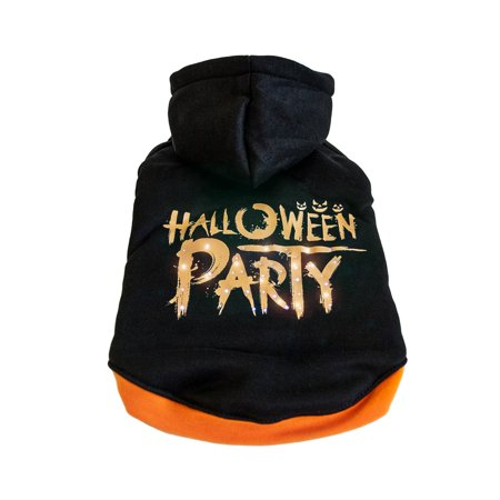 Pet Life LED Lighting Halloween Party Hooded Sweater Pet - Pet Halloween